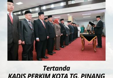 Kadis Perkim Kota Tanjungpinang Mengucapkan Selamat & Sukses Atas Pelantikan Sekda Kota Tanjungpinang