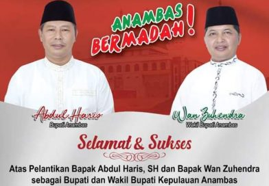 Bupati Anambas Abdul Haris Dan Wabup Wan Zuhendra Di Lantik Gubernur Ansar Ahmad